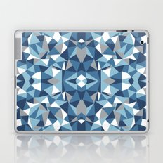 Abstract Collide Blues Laptop & iPad Skin