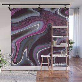 Fuchsia Grey Blueberry Marble (1) Wall Mural