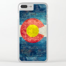 Coloradan State Flag Clear iPhone Case