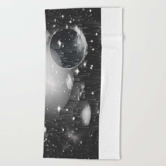 Space Pixels Beach Towel