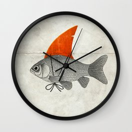 Goldfish with a Shark Fin Wall Clock