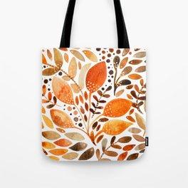 Autumn watercolor leaves Tote Bag
