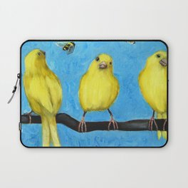 Busy Bees and Canaries Laptop Sleeve