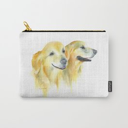 Harold and Daphne - golden retriever 2 Carry-All Pouch