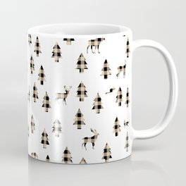 Woodland Pattern: Brown Buffalo Plaid Coffee Mug