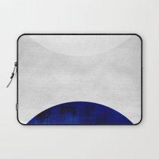 white & cobalt Laptop Sleeve