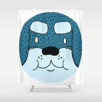 rottweiler Shower Curtains featuring ROTTWEILER by Flash Harrold