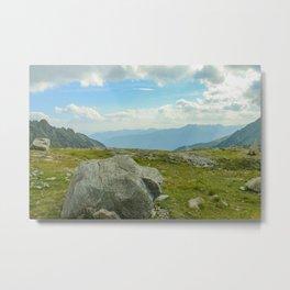Big rock high in the mountains Metal Print