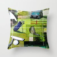 golf Throw Pillows featuring Golf by Andrew Sliwinski