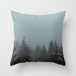 Pacific Trees Throw Pillow