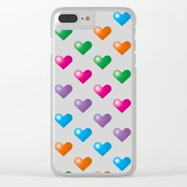 Hearts_F04 Clear iPhone Case