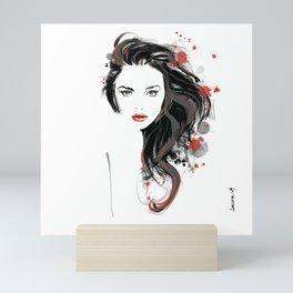 The look of seduction Mini Art Print