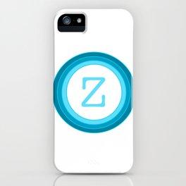 Blue Letter Z iPhone Case