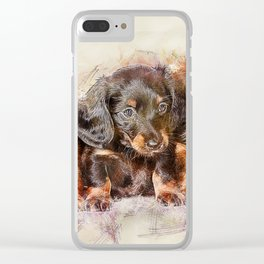 Dachshund Dog Cute Clear iPhone Case