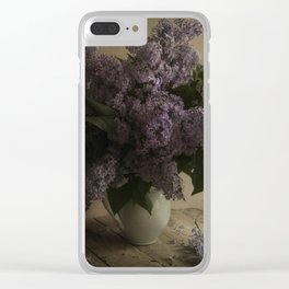 Still life with fresh lilac Clear iPhone Case