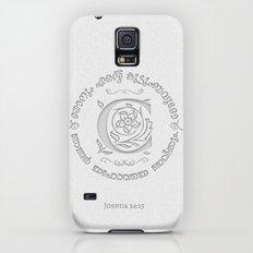 Joshua 24:15 - (Letterpress) Monogram C Slim Case Galaxy S5