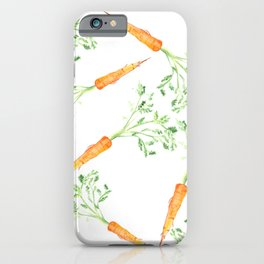 Watercolor carrots iPhone Case