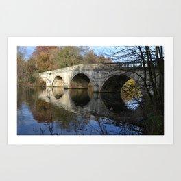 Clumber Bridge Art Print