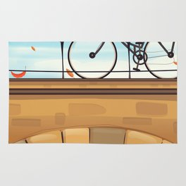 Holland Bicycle travel poster Rug
