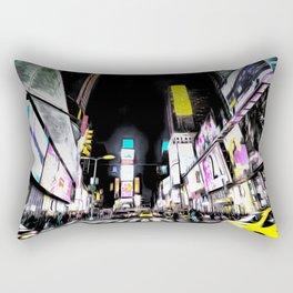 Times Square New York Art Rectangular Pillow