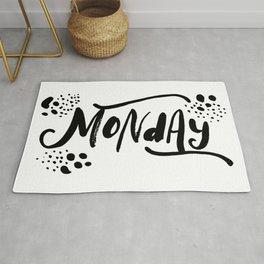 Monday quote Rug