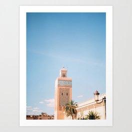 Mosque tower   Marrakech Morocco Travel photography   Wanderlust photo art Art Print