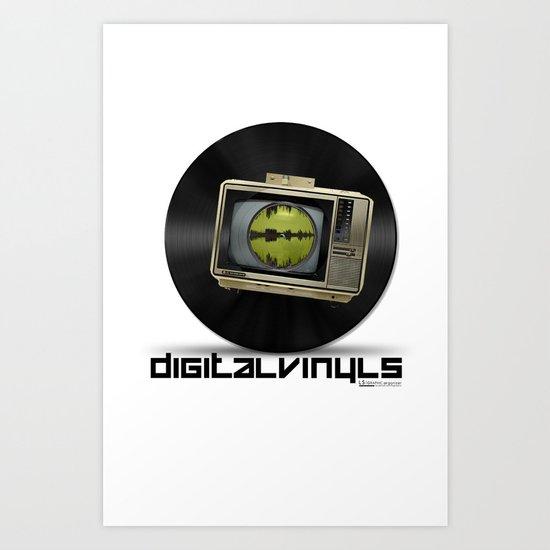 Digital Vinyls Art Print