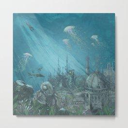 Sunken city Metal Print