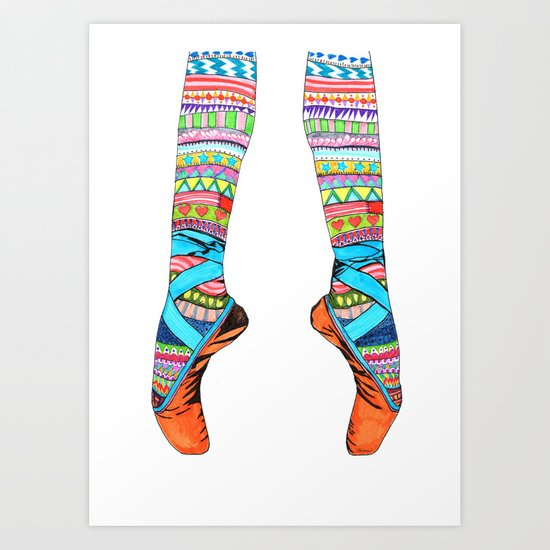 Happy Ballet Art Print