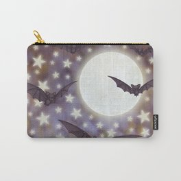 the moon, stars, bats, & calla lilies Carry-All Pouch