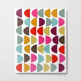 Geometric in Bright Fall Colors Metal Print