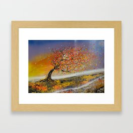 Gone With The Colourful Wind Framed Art Print