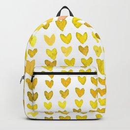 Brush stroke hearts - yellow Backpack