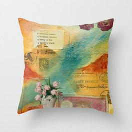 A Crowing Rooster Throw Pillow