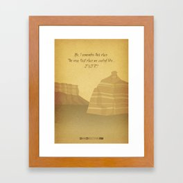 Breaking Bad - To'hajiilee Framed Art Print