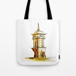 old town . fountain Tote Bag