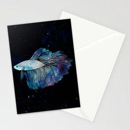 Betta Fish Galaxy Stationery Cards