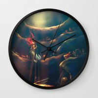 alice Wall Clocks featuring Someday by Alice X. Zhang