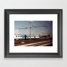 Padova Train Ride Framed Art Print