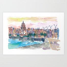 Dreaming of a Havana Cuba Malecon Evening Art Print