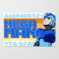 mega man Canvas Prints featuring Mega Man by 117 Art