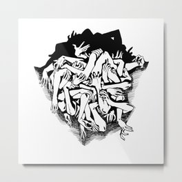 Nervous Metal Print
