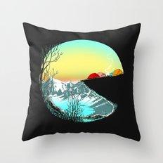 Pac camp Throw Pillow