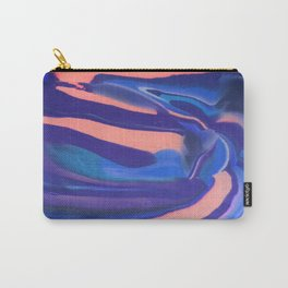 Peachy Blue Marbling Pantone Carry-All Pouch