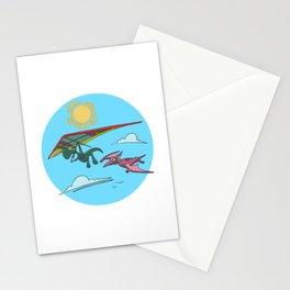 Hang Glider Dinosaur Stationery Cards