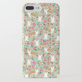 Corgi Florals - vintage corgi and florals gift great for corgi lovers, corgi gift, corgi florals, co iPhone Case