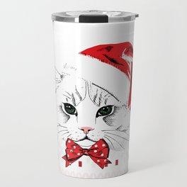 Cat Ugly Christmas Travel Mug