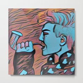 Mujigae G Dragon Metal Print