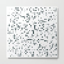 #128 binary Metal Print