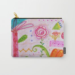 Palm and Florals Illustration by Paisley in Paris™ Carry-All Pouch